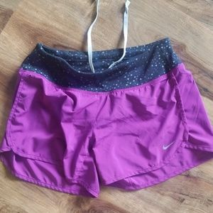 Nike running shorts with underwear lining